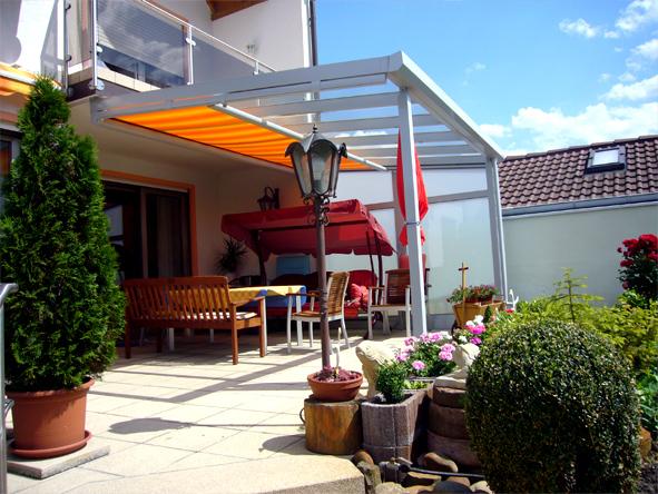 Gartenmobel Rattan Nachbildung : aluTerrassendachde Terrassenüberdachung Aluminium VSG komplett mit